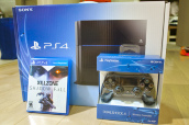 Sony PlayStation 4 Pro 1TB Black Console, Wireless Gold Headset, 2 Games объявление
